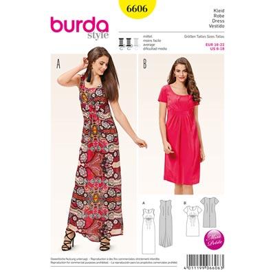 Kleid, Burda 6606 | 16 - 22