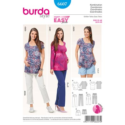 Umstandskombination, Burda 6607 | 32 – 46