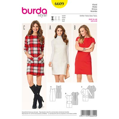 Kleid, Burda 6609 | 34 - 46
