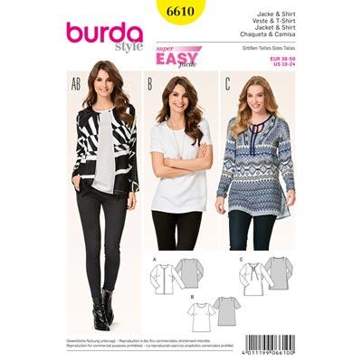 Jacke | Shirt, Burda 6610 | 36 - 50