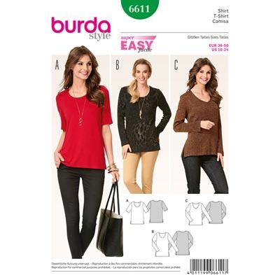 Shirt, Burda 6611 | 36 - 50