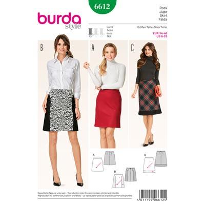 Rock, Burda 6612 | 34 - 46