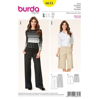 Hose, Burda 6613 | 36 - 50