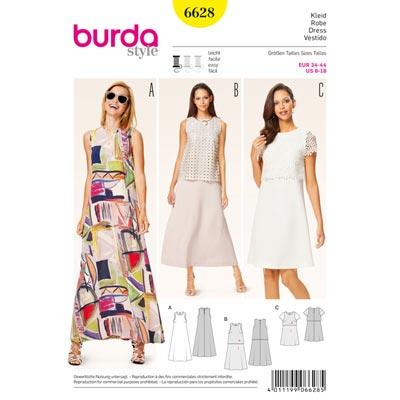 Kleid, Burda 6628 | 34 - 44