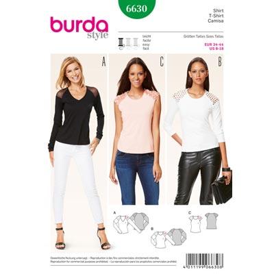 Shirt, Burda 6630 | 34 - 44