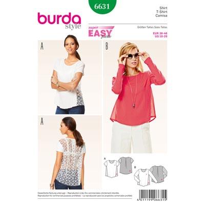 Shirt, Burda 6631 | 36 - 46
