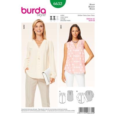 Bluse, Burda 6632 | 34 - 44