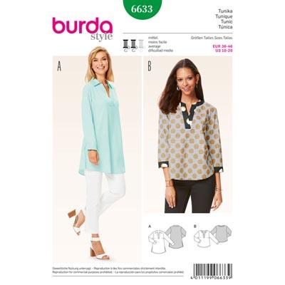 Tunika, Burda 6633 | 36 - 46