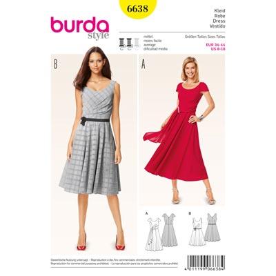 Kleid, Burda 6638 | 34 - 44
