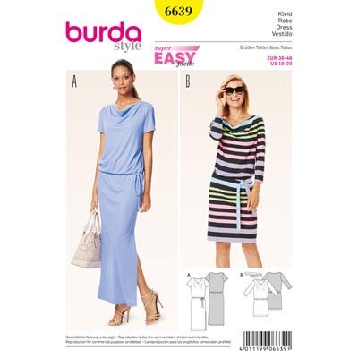 Kleid, Burda 6639 | 36 - 46