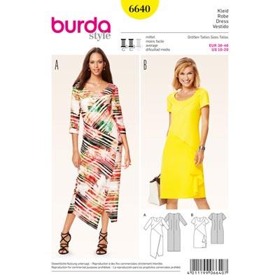 Kleid, Burda 6640 | 36 - 46