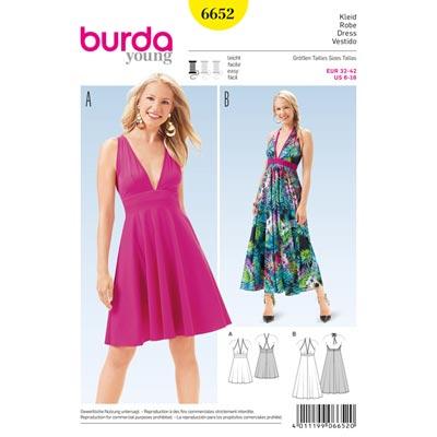 Kleid, Burda 6652 | 32 - 42