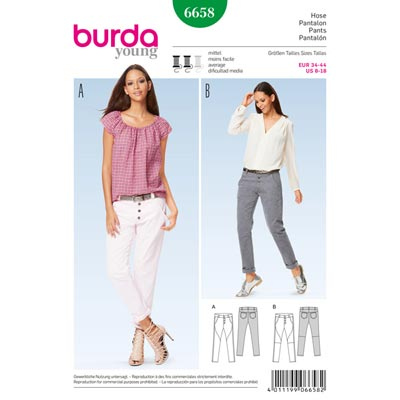 Hose, Burda 6658