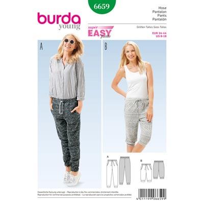 Hose, Burda 6659 | 34 - 44