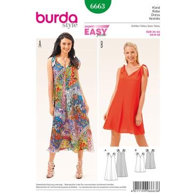 Kleid, Burda 6663 | 34 - 44