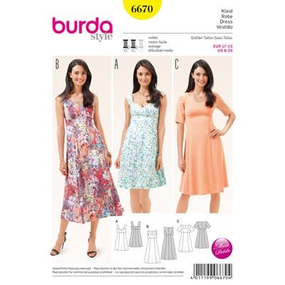Kleid, Burda 6670 | 17 - 23
