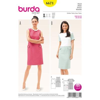 Kleid, Burda 6671 | 18 - 23