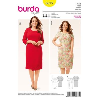 Kleid, Shirt, Burda 6675