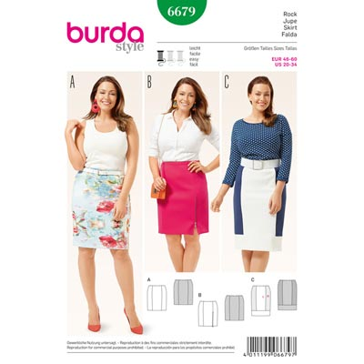 Plus Size - Rock, Burda 6679 | 46 - 60