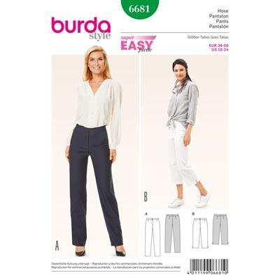 Hose, Burda 6681 | 36 - 50