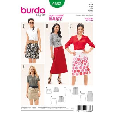 Rock, Burda 6682 | 36 - 50