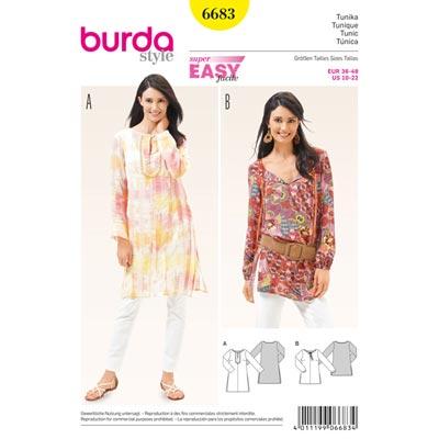 Tunika, Burda 6683 | 36 - 48