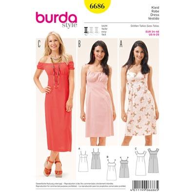 Kleid, Burda 6686 | 34 - 46