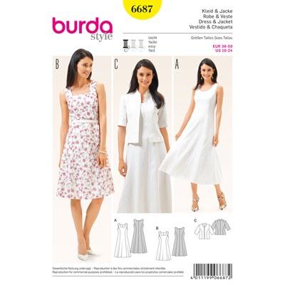 Kleid | Jacke, Burda 6687 | 36 - 50