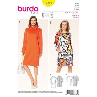 Kleid, Burda 6691