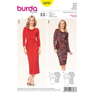 Kleid, Burda 6693 | 34 - 46