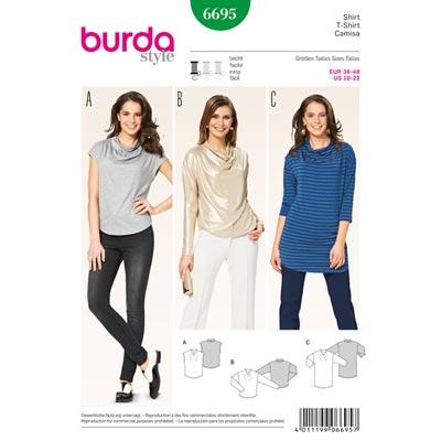 Shirt, Burda 6695 | 36 - 48