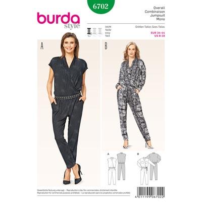 Overall, Burda 6702 | 34 - 44