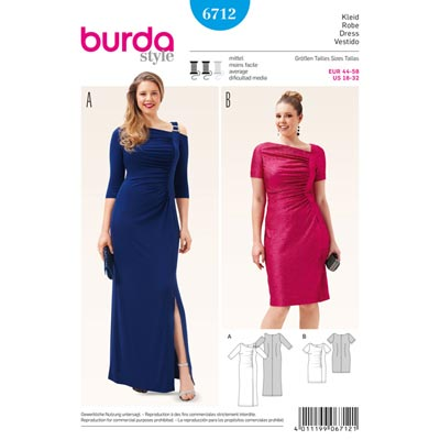 Plus Size Kleid, Burda 6712