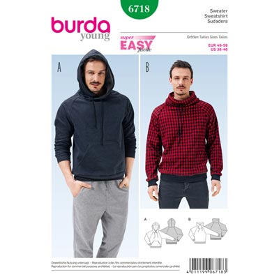 Sweater, Burda 6718 | 46 - 56