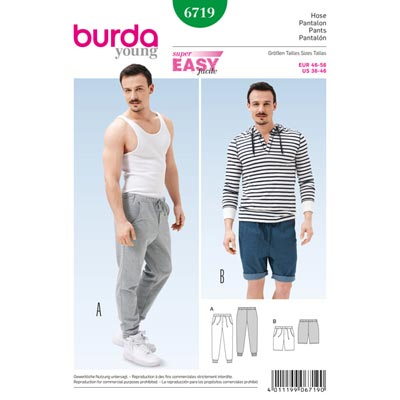 Hose, Burda 6719 | 46 - 56