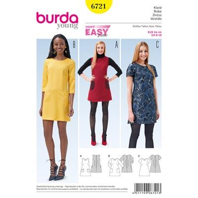 Kleid, Burda 6721 | 34 - 44