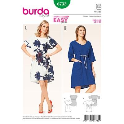 Kleid, Burda 6732 | 36 - 46