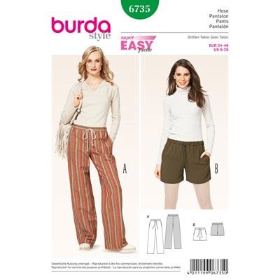 Hose, Burda 6735 | 34 - 46