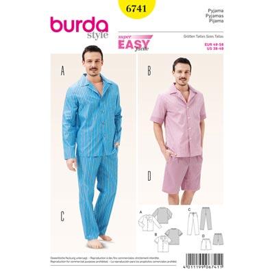 Pyjama, Burda 6741 | 48 - 58