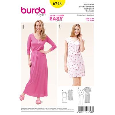 Nachthemd, Burda 6743