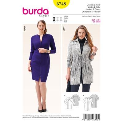 Jacke | Kleid, Burda 6748 | 18 - 23