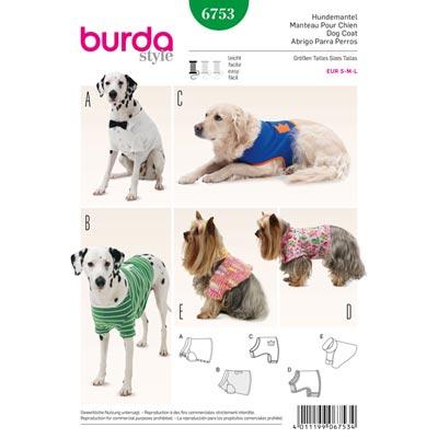 Hundemantel, Burda 6753 | S - L