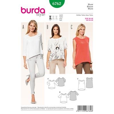 Bluse, Burda 6762 | 36 - 46
