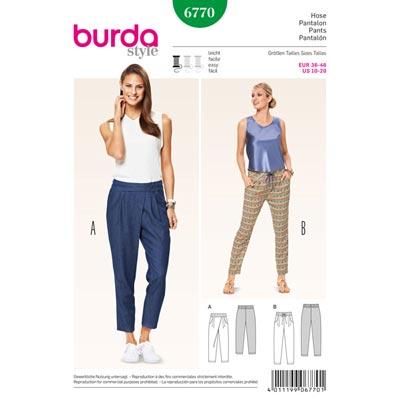 Hose, Burda 6770 | 36 - 46