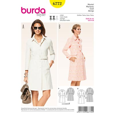 Mantel, Burda 6772