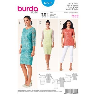 Kleid | Tunika, Burda 6779 | 36 - 48