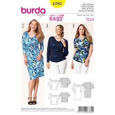 Shirt | Kleid, Burda 6785 | 44 - 54