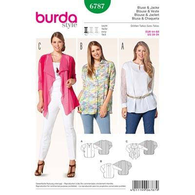 Jacke | Bluse, Burda 6787 | 44 - 60
