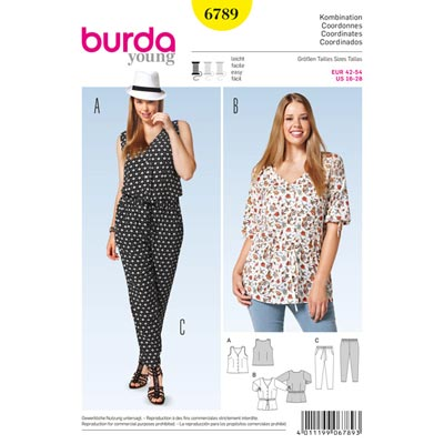 Bluse | Hose | Top, Burda 6789 | 42 - 54