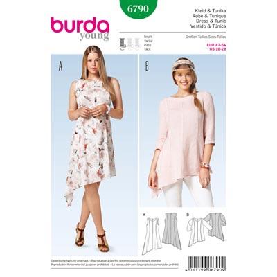 Kleid | Tunika, Burda 6790 | 42 - 54